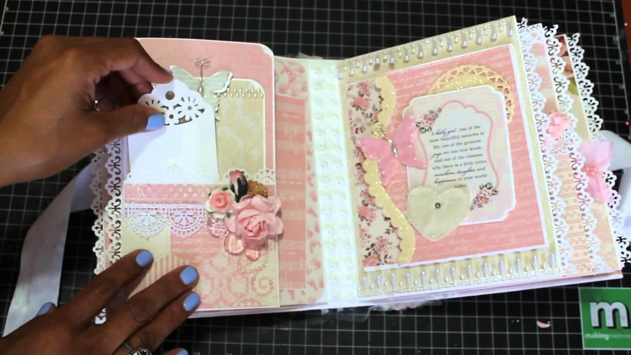 Baby Girl Mini Scrapbook Album August 2015 Sold Youtube