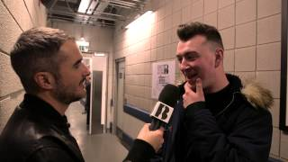 Zane Lowe with Sam Smith | Backstage at The BRITs 2014