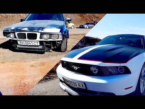 Ford Mustang Vs BMW E34; Ford Mustang  Vs BMW 340