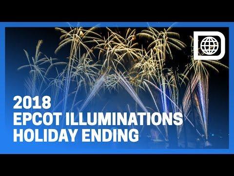 Epcot IllumiNations - Holiday Ending 2018