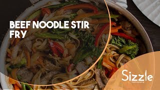 How to prepare Beef Noodle Stir Fry | SIZZLE