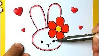 HOW TO DRAW AN EASTER BUNNY EASY DRAWING EASY AND FOFO - Drawing to Draw