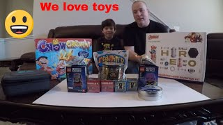 Toy Review littlebits avengers inventor kit , lego brick headz , treasure x and roblox blind bags