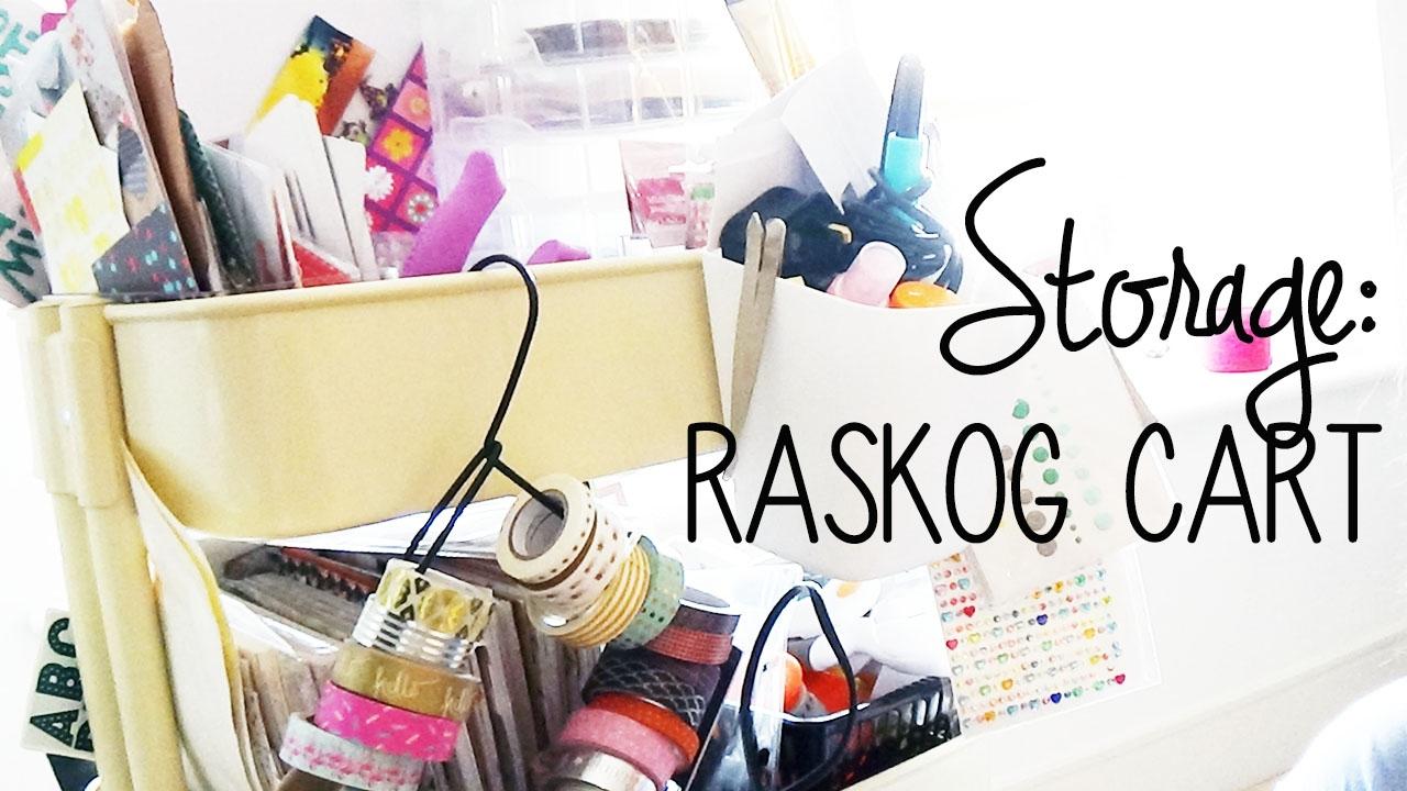 Scrapbook Storage Tour Raskog Cart Organisation Youtube
