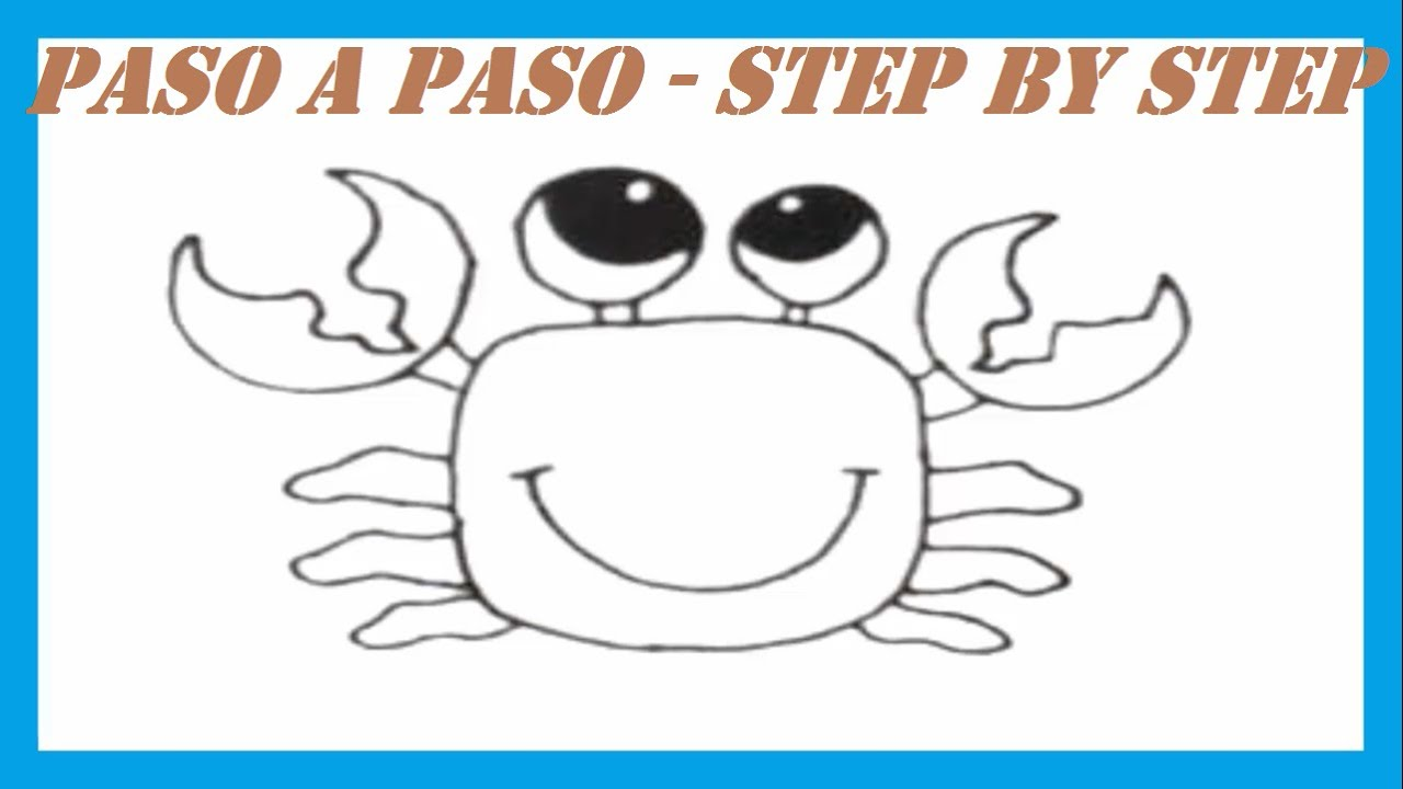Como dibujar un Cangrejo l How to draw a Crab - YouTube