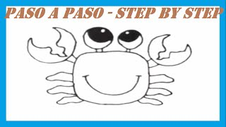 Como dibujar un Cangrejo l How to draw a Crab