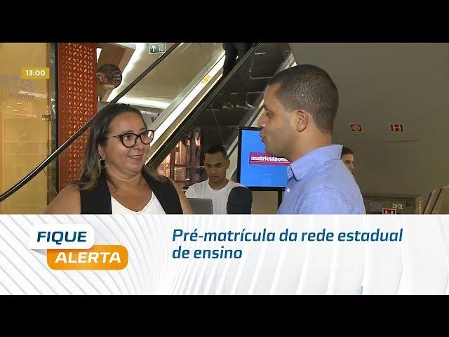 Pré-matrícula da rede estadual de ensino pode ser feita em shopping de Maceió