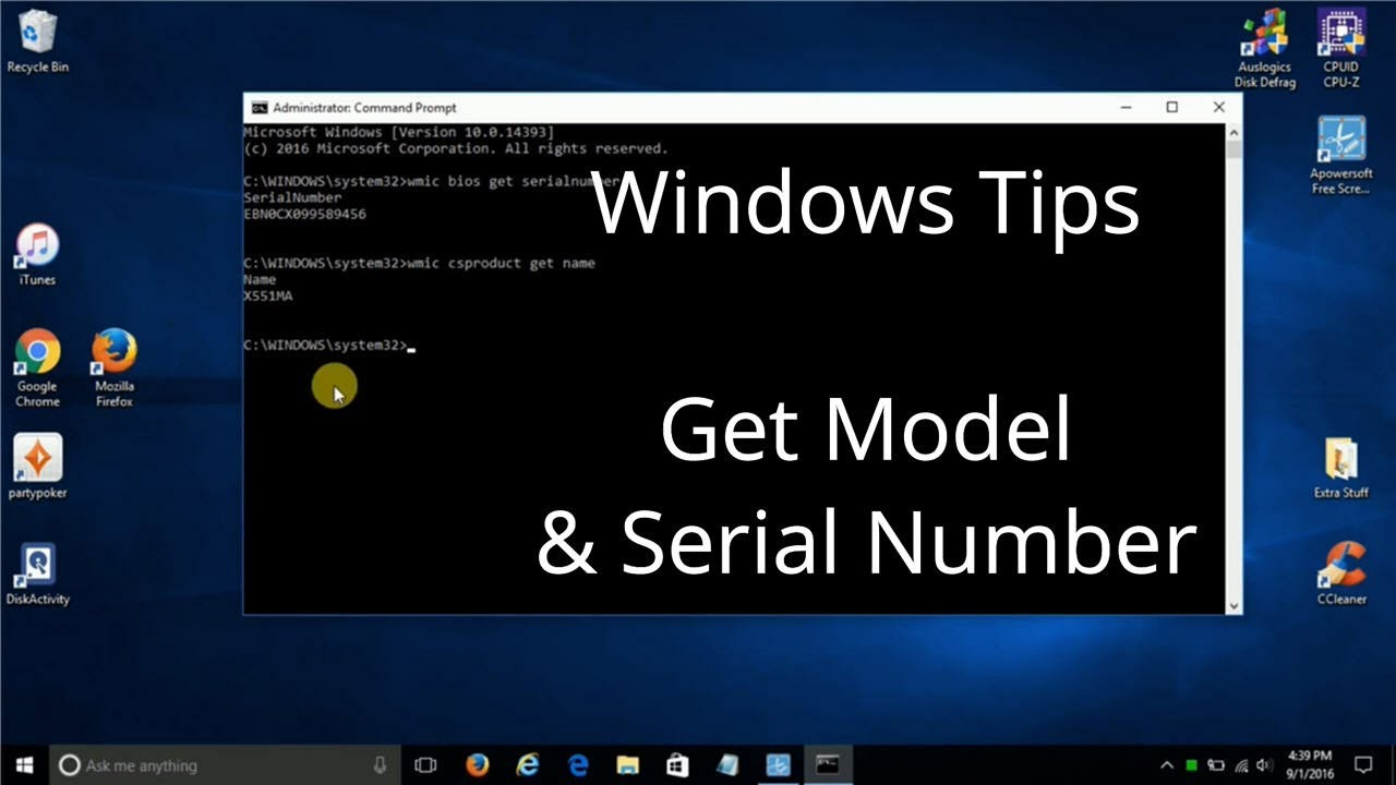 How to Find Your Computer Model & Serial Number inside of Windows 10 - Tips  & Tricks Laptop Hacks