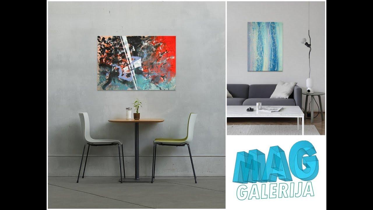 Dizajn poslovnog prostora modernim apstraktnim slikama iz ponude galerije MAG...
