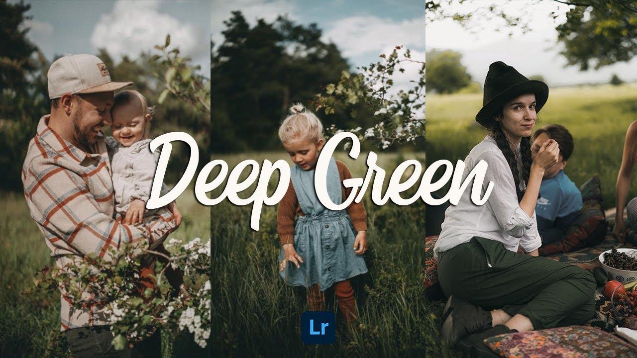 Moody Deep Green Presets - Lightroom Mobile Presets DNG | Moody Deep Green Lightroom Presets