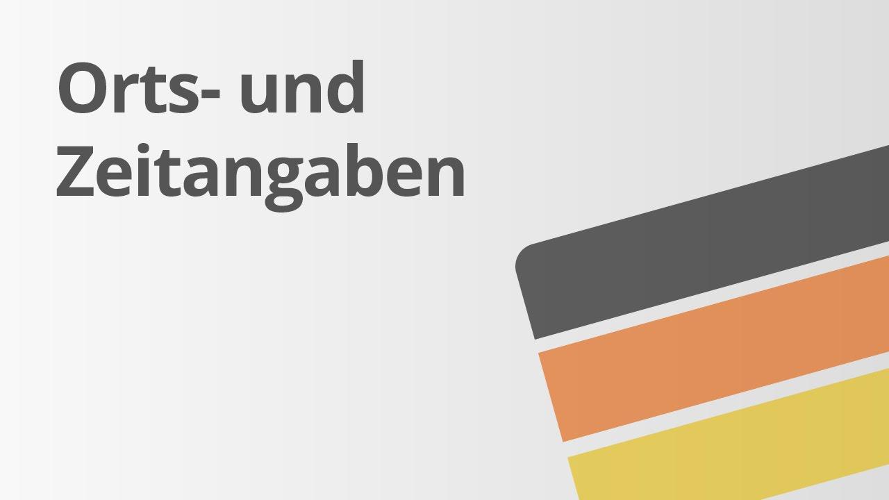W-Fragen und die Angaben von Ort und Zeit | Deutsch | Richtig ...