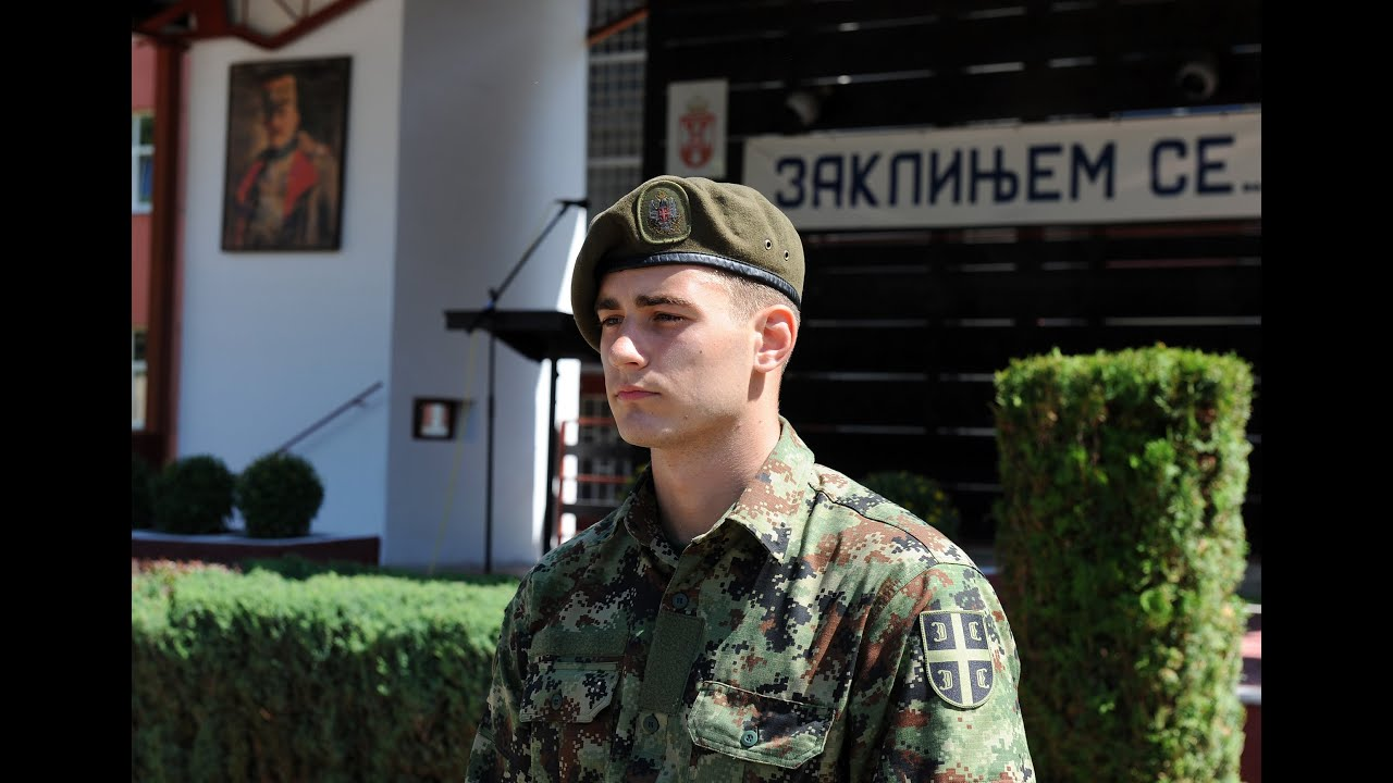 Vojnik Miloš Nikolić // Polaganje vojničke zakletve