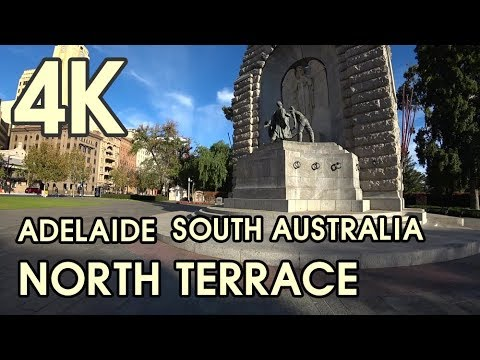 【4K BEAUTIFUL ADELAIDE AUSTRALIA】 Morning Walking Trail North Terrace In Autumn
