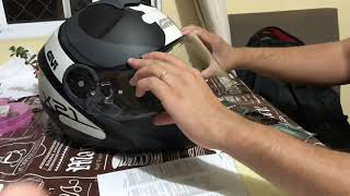 Excelente acessório pinlock aplicado no capacete Givi X21. Nos dias de chuva esse pinlock te entrega a melhor visão e segurança para a pilotagem.