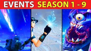 Gambar cover Every Fortnite Live Event (SEASON 1 - 9) Meteor, Rocket, Cube to Monster vs Robot