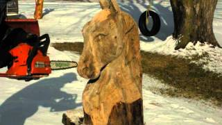 Horse Head Carving 2.wmv