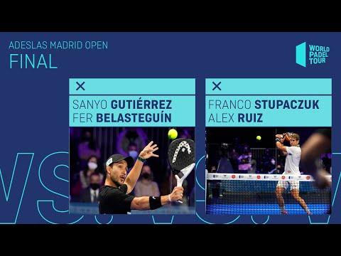 Resumen Final Sanyo/Bela Vs Stupa/Ruiz Adeslas Madrid Open - World Padel Tour