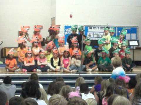 Mrs. Barnes-Miller's Class Doing The Dinosaur Song