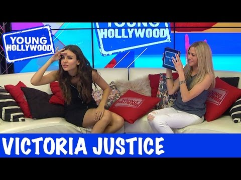Victoria Justice Acts It Out In Heads Up Challenge!