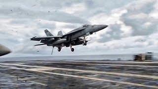 Aircraft Carrier USS Ronald Reagan Flight Ops (Sept 2018)