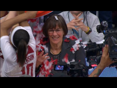 Highlights: Stanford  celebrates head coach Tara VanDerveer's 1,000th career win