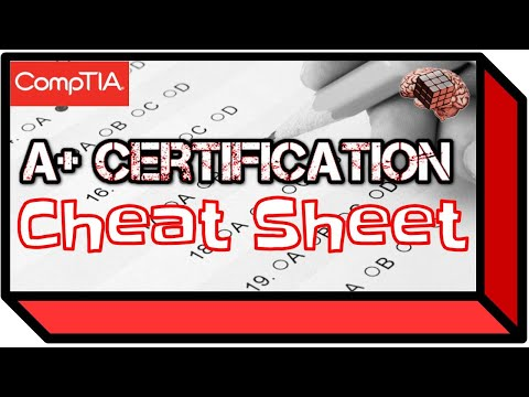 A+ Certification Cheat Sheet (Tips and Study Help)
