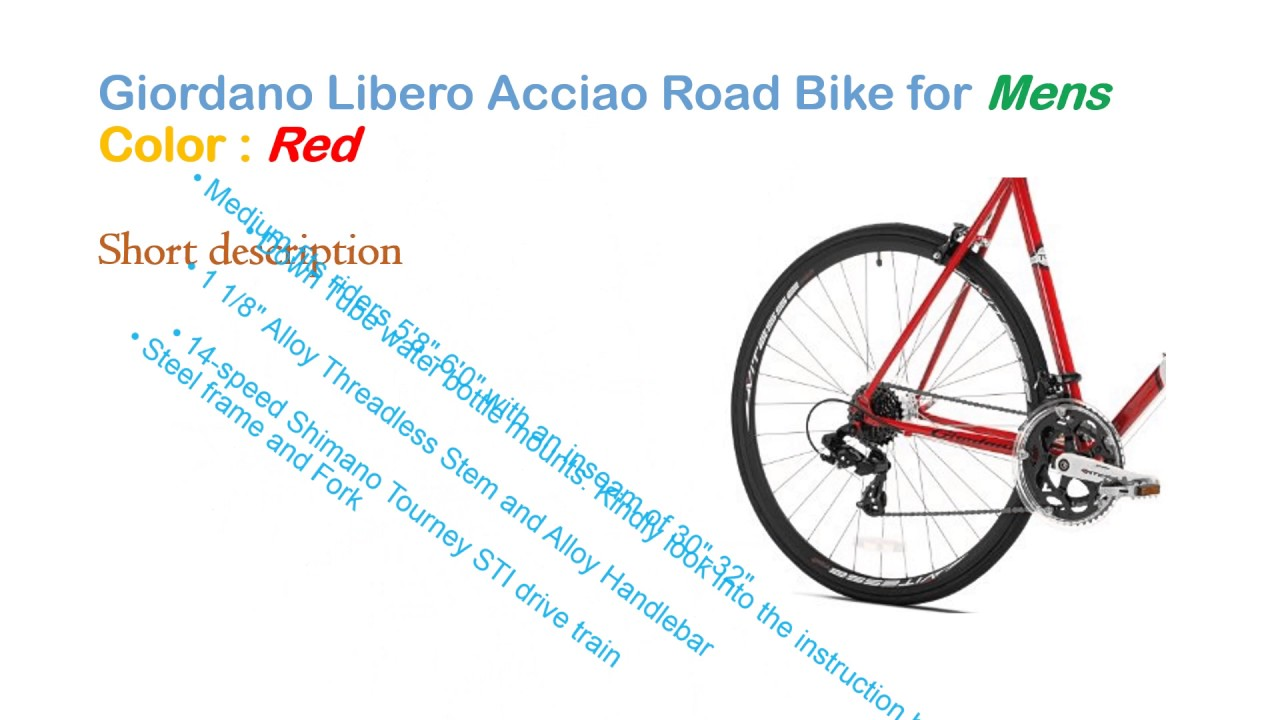 Giordano Libero Acciao Road Bike | The Best Steel frame and Fork ...