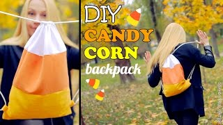 diy candy corn backpack how to make a candy corn drawstring bag