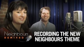 Neighbours Remixed winners record the new theme tune