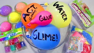 Adding Too Many Ingredients into Slime & Satisfying Balloon Cutting!