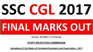 ssc-cgl-2017-final-marks-out---must-check-your-final-marks-now