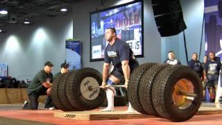 Arnold Strongman Classic 2011 - Deadlift 1110lbs WORLD RECORDS