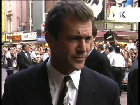 1997 Mel Gibson, Conspiracy Theory London Premiere, 1990s Archive Footage