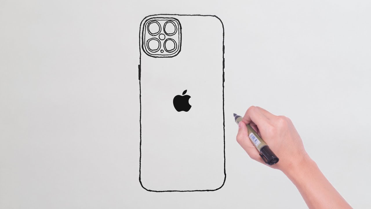 How to Draw iPhone 12 Pro MAX Apple - iPhone 12 Pro MAX Çizimi