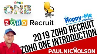Zoho Recruit Beginner Introduction 2019 - Part Of The Zoho ONE Suite - Join Us At Z-ONE Club