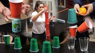 8 Fun & Cheap Party Games with Cups (Minute to Win It Games)[PART 2]