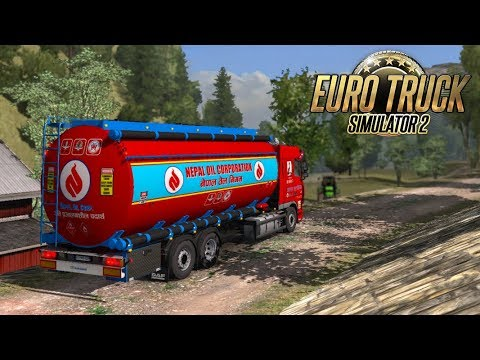 Nepal Online Games - driving nepal Oil Trucker in Jungle Road of himalaya ETS2