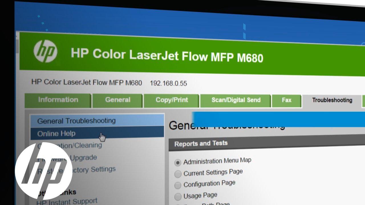 HP LaserJet Help and Control Panel | HP LaserJet | HP