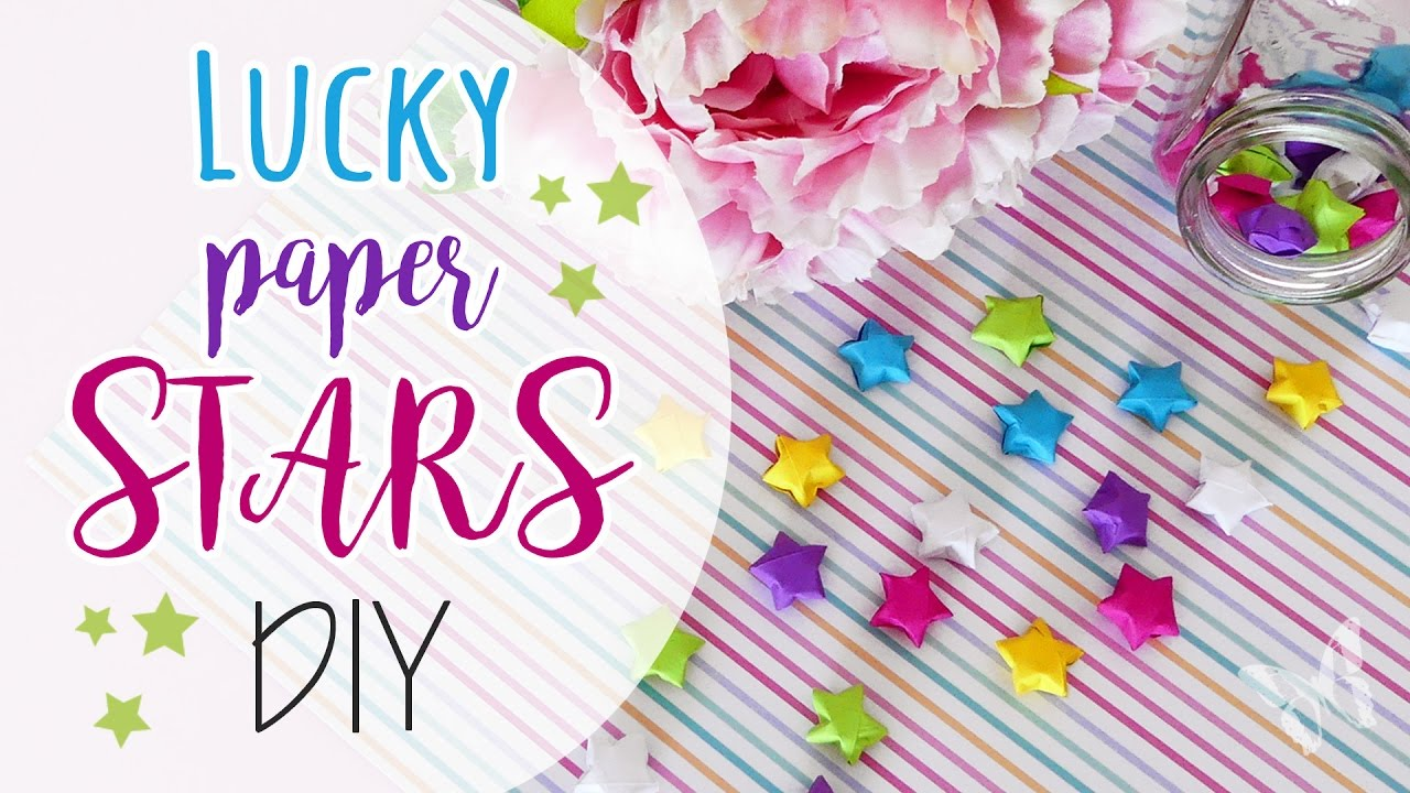 lucky paper stars stelle di carta youtube. Black Bedroom Furniture Sets. Home Design Ideas