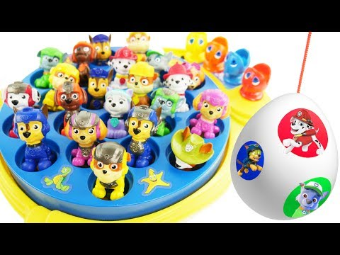 Learn Colors for Children with Paw Patrol Skye & Chase Play Let's Go Fishing Fish Kids Toys Game