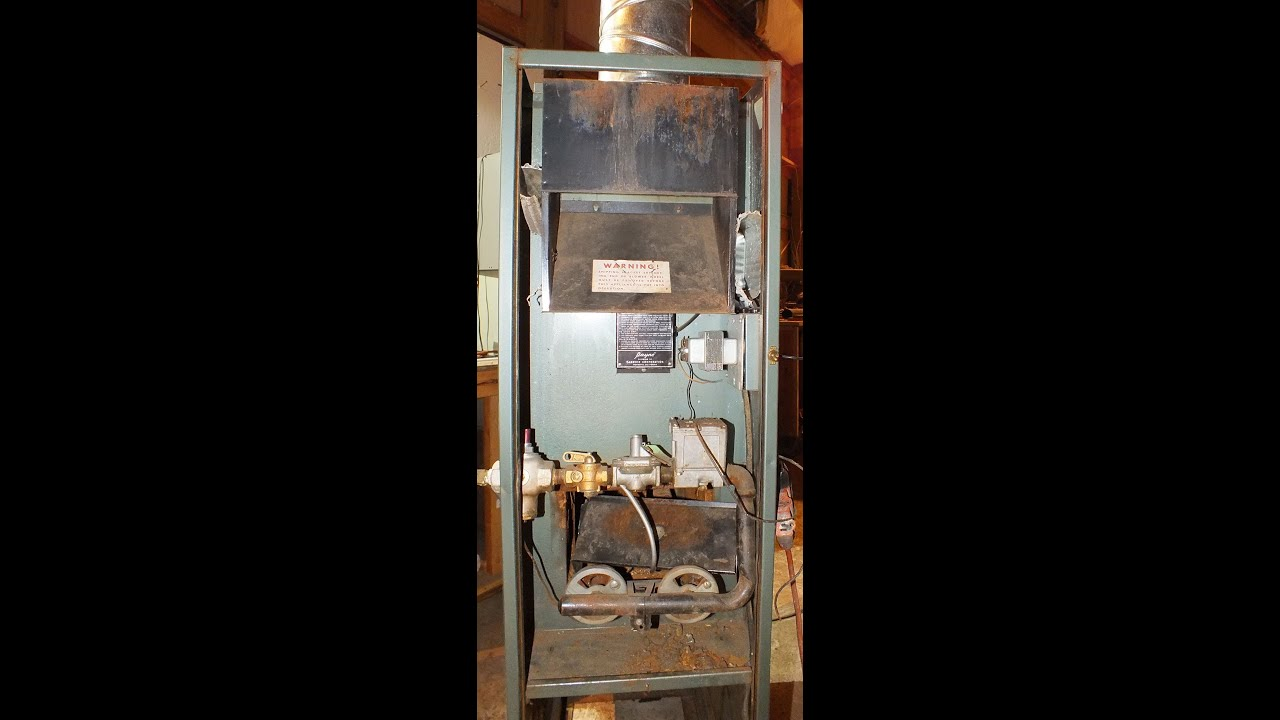 service of the antique pilot furnace part 1 youtube rh youtube com Electric Furnace Wiring Diagrams Lennox Furnace Wiring Diagram