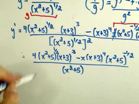 product rule and quotient rule worksheet key