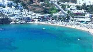 Mylopotas beach on Ios island, Aegean Sea