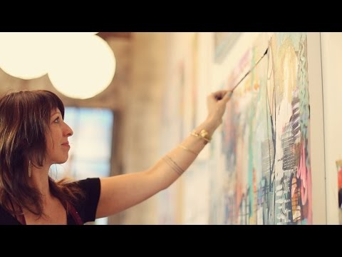 Flora Bowley's Brave Intuitive Painting Process