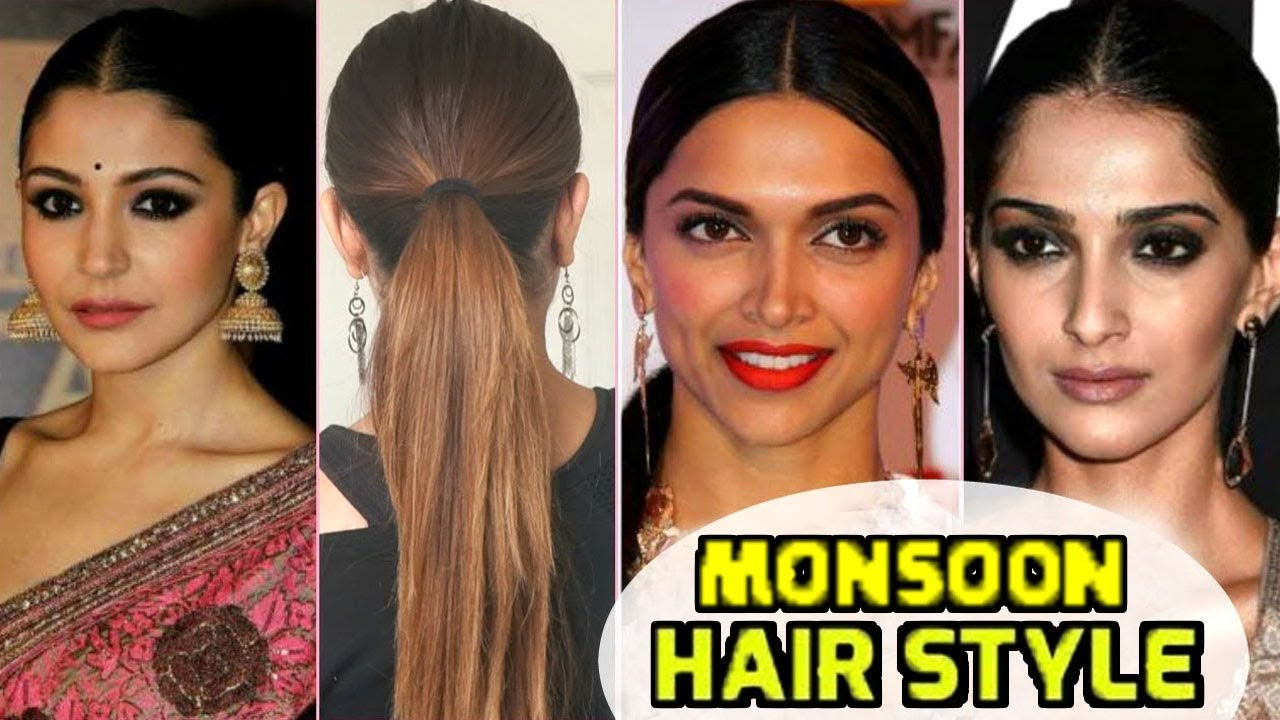 top 6 bollywood actress monsoon hairstyle | best indian traditional hairstyle