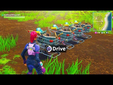 How to DRIVE the NEW SHOPPING CARTS in FORTNITE BATTLE ROYALE! (New Fortnite Vehicles Update)