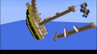 тонущий корабль minecraft анимация