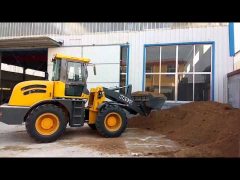 2 ton wheel loader working video from qingzhou city heracles brand