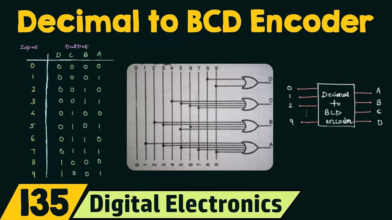 Decimal To Bcd Encoder Youtube