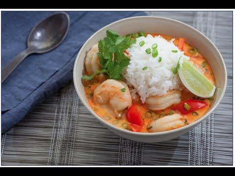 """Cook With Me & Review """"Blue Apron"""" Thai Coconut Shrimp Soup 1/7/13 So Delicious"""